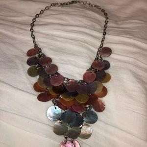 Shell colored necklace